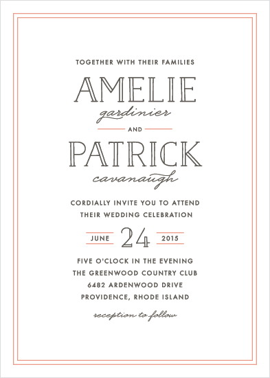wedding invitations - Inline Type