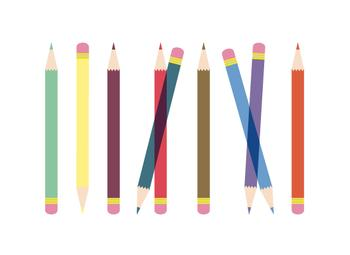 Colorful Pencils Art Prints