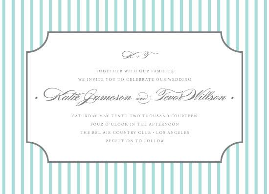 wedding invitations - Pinstripe by roxy