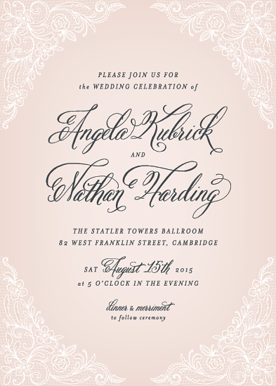 wedding invitations - Elegant Lace