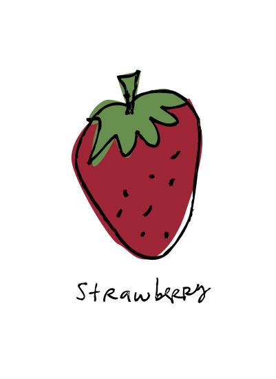 art prints - Kitchen Strawberry by Jill Halksworth