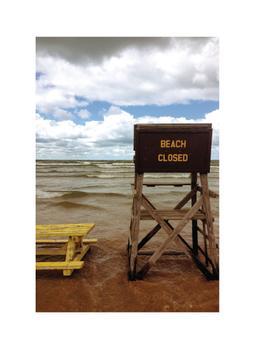 Beach Closed Art Prints
