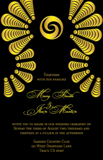 wedding invitations - Ashabi by IJORERE The Invitation Inc