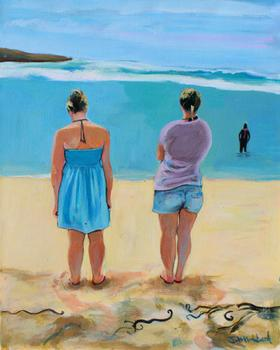 Friends on the beach Art Prints
