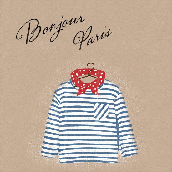 art prints - Bonjour Paris by My Splendid Summer