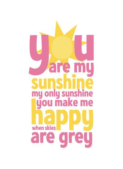 art prints - You are my Sunshine by Anastasia B. Kijewski