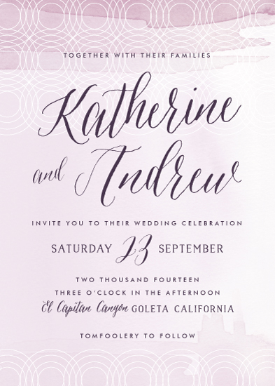 wedding invitations - color me mine by annie clark