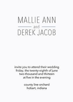 Modern Wedding Invitation - Chic Design