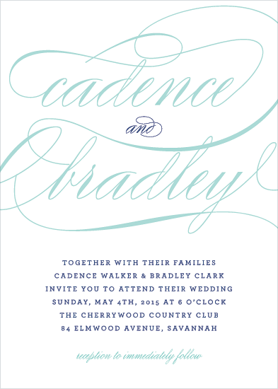 wedding invitations - Cadence Script