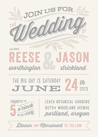 wedding invitations - Rustic Charm