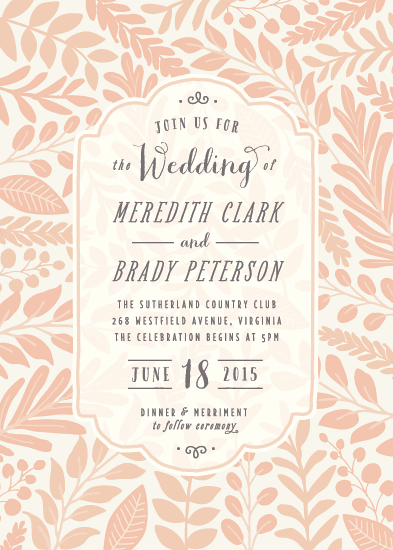 wedding invitations - Garden Nuptials