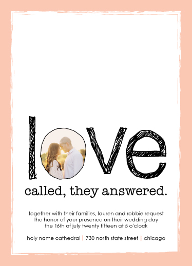 wedding invitations - Love Called by jocie mock