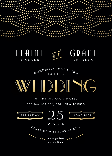 wedding invitations - Gold Glamour