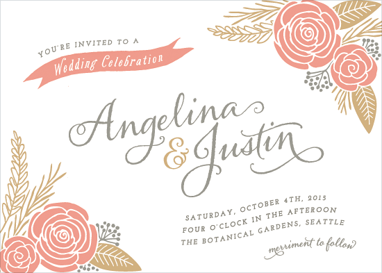 wedding invitations - Floral Romance