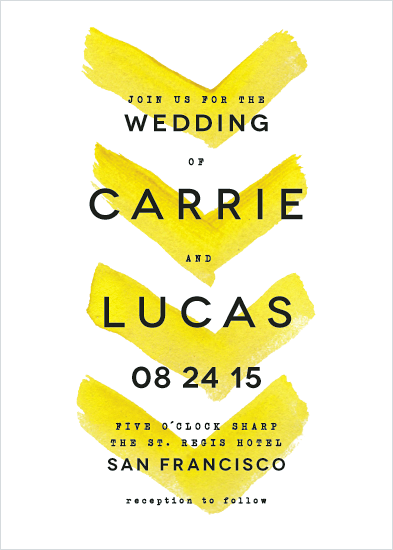 wedding invitations - Painted Chevrons