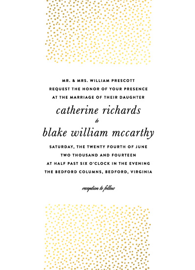 wedding invitations - Delicate Dots by ashley hegarty