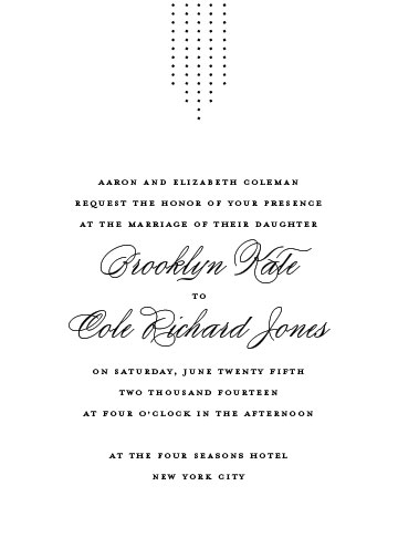 wedding invitations - formal fringe by Jill Means