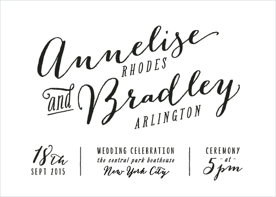 wedding invitations - Annelise