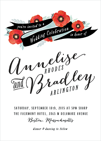 wedding invitations - Poppies