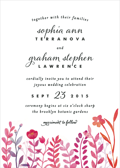 wedding invitations - Handpainted Botanicals