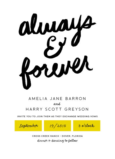 wedding invitations - Always & Forever by Kelly Nasuta