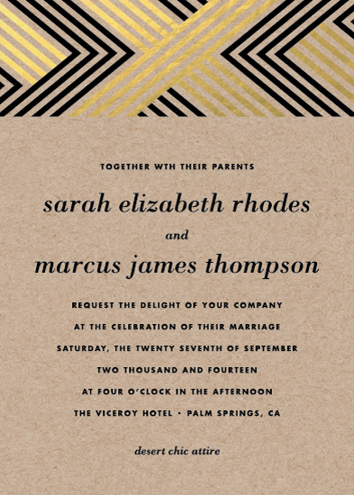 wedding invitations - Braided Chevron by Vellum and Vogue