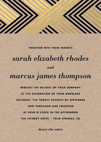 wedding invitations - Braided Chevron by Bourne Paper Co.