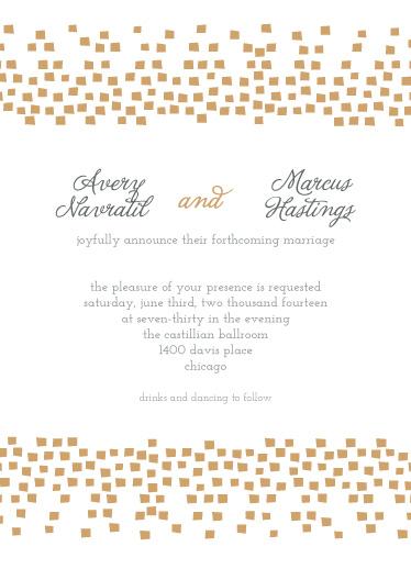 wedding invitations - Confetti Reflections