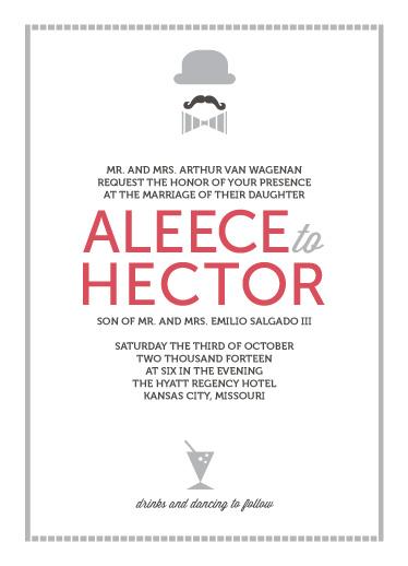 wedding invitations - Puttin' On the Ritz