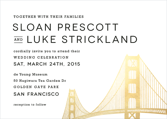 wedding invitations - Golden Gate Bridge