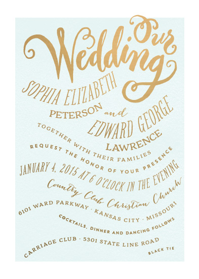 wedding invitations - Formal Affair by Laura Bolter Design