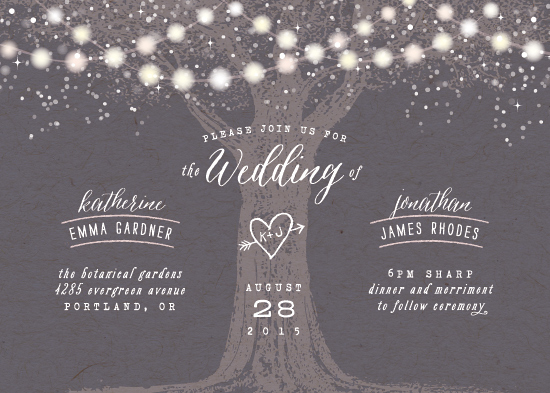 wedding invitations - Garden Lights