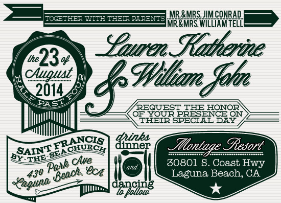 wedding invitations - Retro Neue