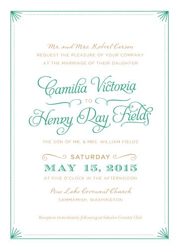 wedding invitations - Elegant Deco Border by Iwona K