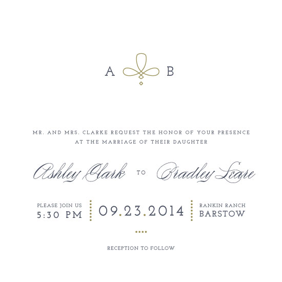 wedding invitations - Classical Knot by WHALEN