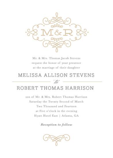 wedding invitations - Ornate Monogram by Kristen Smith