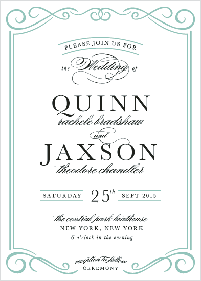 wedding invitations - Jaxson Formal