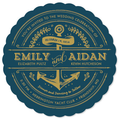 wedding invitations - Anchored by Smudge Design