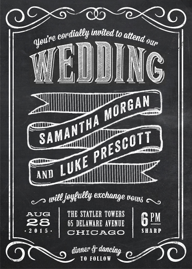 wedding invitations - Chalkboard Love