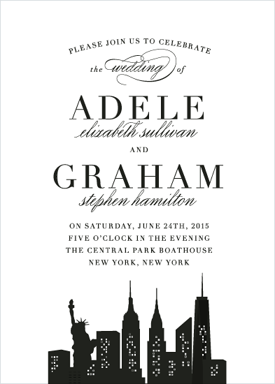 wedding invitations - New York New York
