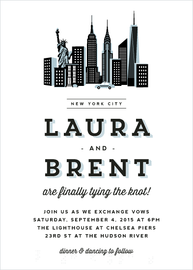 wedding invitations - I Heart New York