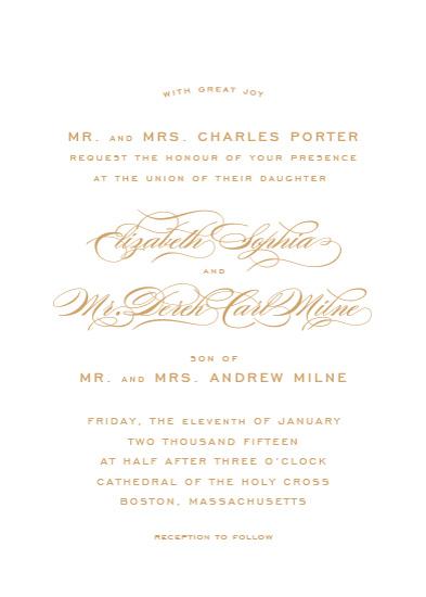 wedding invitations - Gracieux by Kimberly Morgan