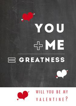 You + Me = Greatness