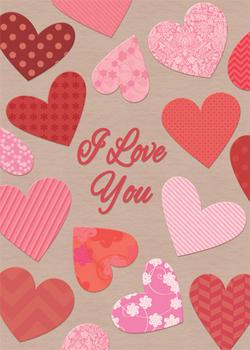 I Love You Pattern Hearts Valentine's Day