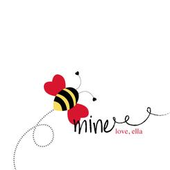 """Buzzing on by to say """"bee mine"""""""