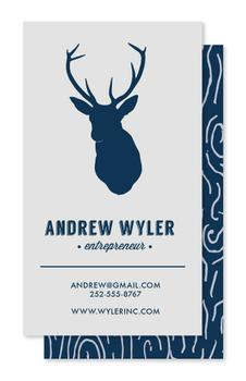 Woodgrain Stag Head Business Cards