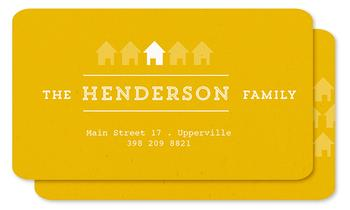 bright yellow household Business Cards