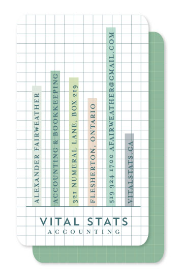 business cards - Vital Stats by Stacey Hill