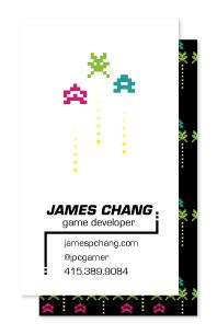invaders Business Cards
