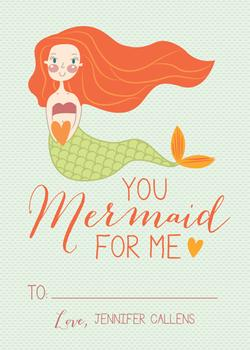 """Mermaid"" For Me Valentine's Day"